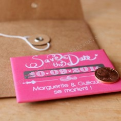 Le magnet save the date à gratter