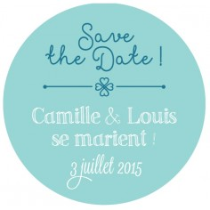 "Magnet save the date ""chapîteau"""
