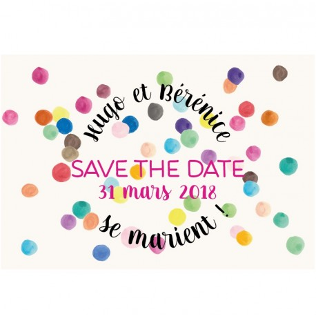 "Magnet save the date ""so pretty!"""