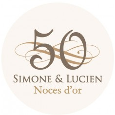 "Sticker noces d'or ""ornements"""