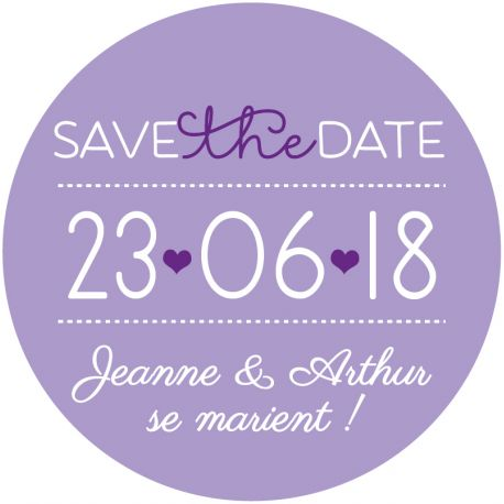 "Magnet save the date ""joli jour"""