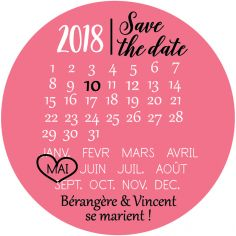 "Magnet save the date ""rendez-vous"""
