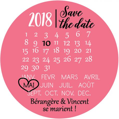 """Magnet save the date """"rendez-vous"""""""