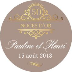 "Sticker personnalisé noces d'or ""golden days"""