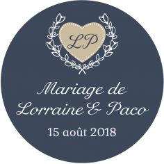 "Autocollant mariage ""time after time"""