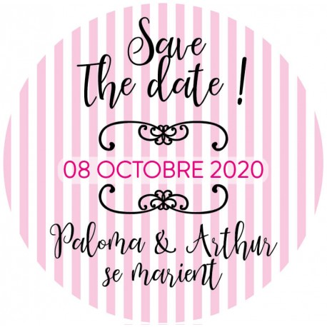 "Magnet save the date ""Flore"""