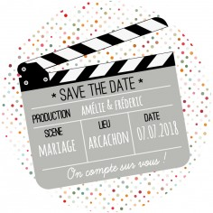 "Magnet save the date ""cinema"""