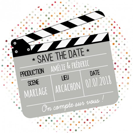 """Magnet save the date """"cinema"""""""