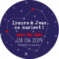 "Magnet save the date ""amour infini"""
