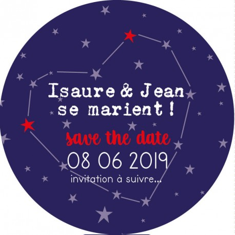 """Magnet save the date """"amour infini"""""""