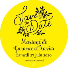 "Magnet save the date ""Promenade"""
